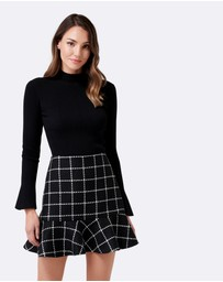 Forever New - Alba Boucle Check Mini Skirt