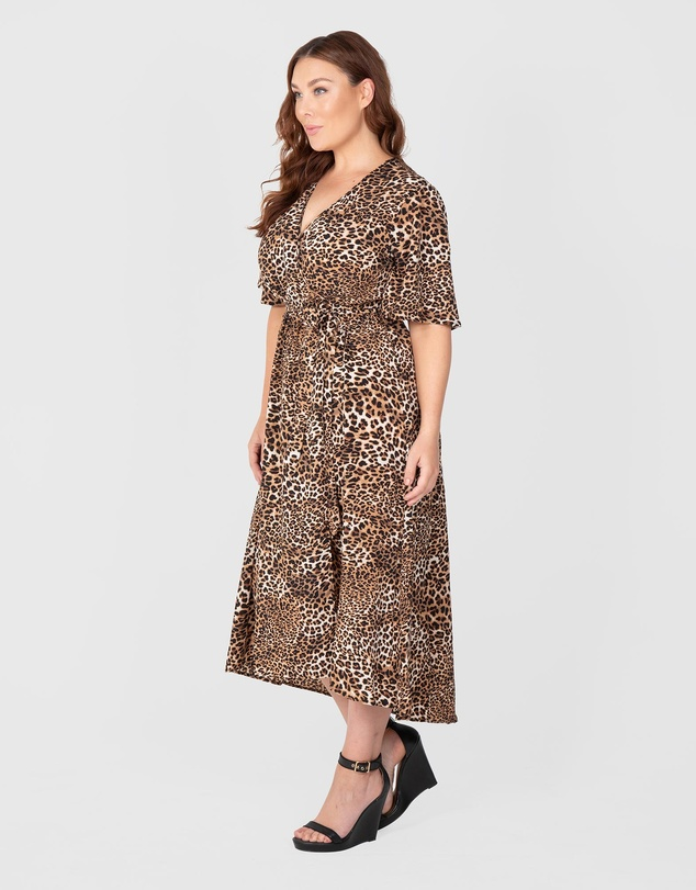 Love Your Wardrobe - Leopard Print Maxi Dress