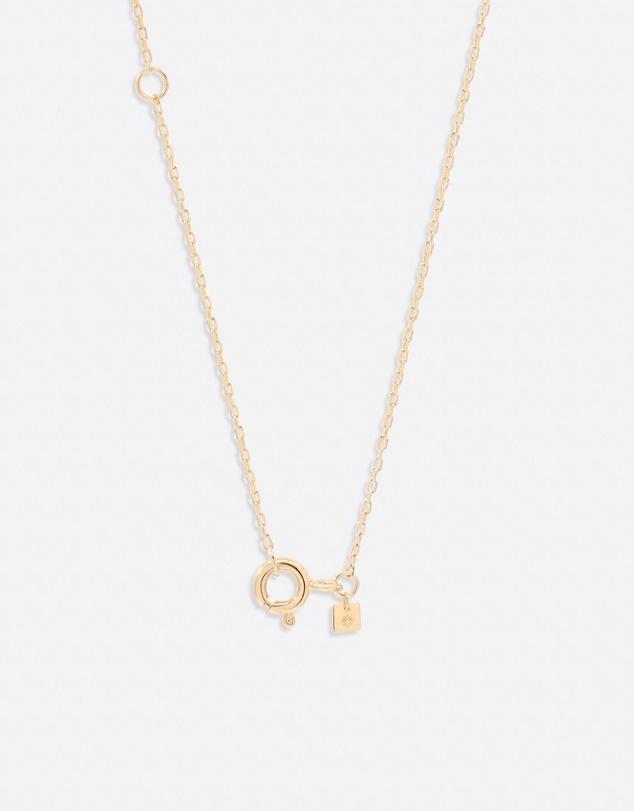 Women 14K Gold Diamond Love Letter M Necklace