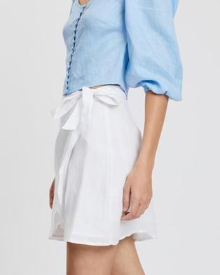 AERE Linen Wrap Skirt - Skirts (White)
