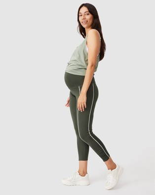 Cotton On Body Active Maternity Love You A Latte 7 8 Tights - 7/8 Tights (Khaki)