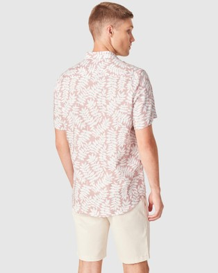French Connection Leaf Linen Regular Fit Shirt - Shirts & Polos (VINTAGE PINK)