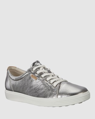 ECCO Soft 7 Women's Sneakers - Lifestyle Sneakers (Silver)