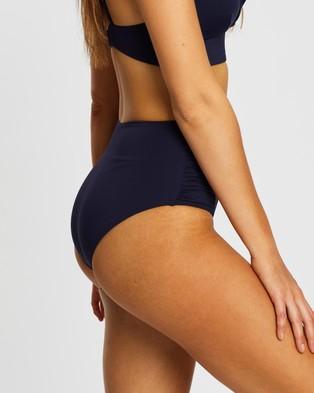 Sea Level Australia High Waisted Gathered Side Pants - Bikini Bottoms (Night Sky)
