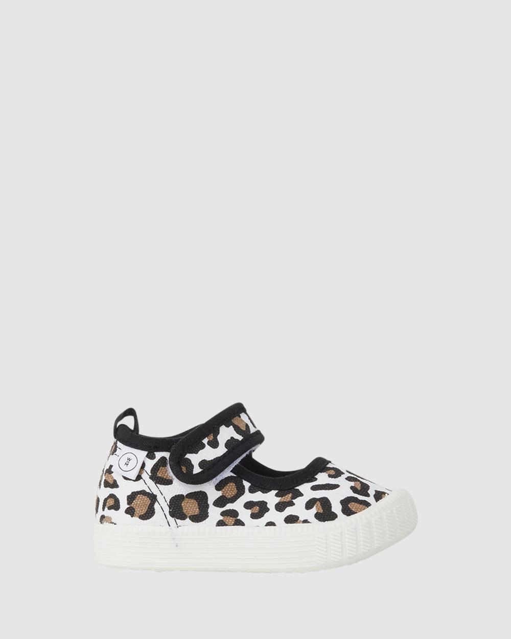 Walnut Melbourne Classic MJ Sneakers Leopard