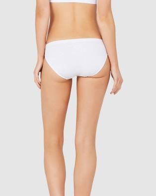 Boody Organic Bamboo Eco Wear 5 Pack Classic Bikini - Bikini Briefs (White)