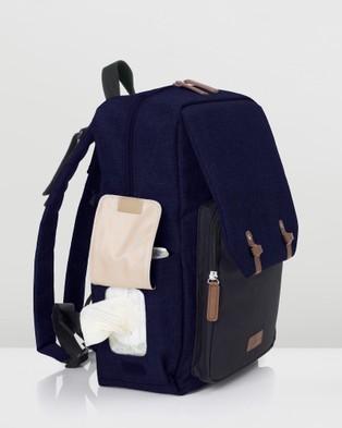 Babymel - George Backpack Nappy Bag - Backpacks (Black & Navy) George Backpack Nappy Bag