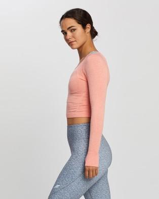 Doyoueven - Air Seamless Cropped Longsleeve - Long Sleeve T-Shirts (Cantaloupe ) Air Seamless Cropped Longsleeve