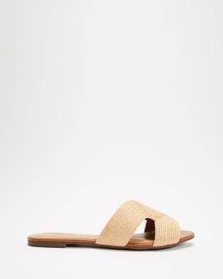 Anacapri - Natural Slides Sandals (Natural)