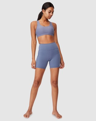 Cotton On Body Active Ultimate Booty Bike Shorts - Sports Tights (Blue Jay)