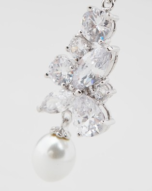 Stephanie Browne Madame Regalia Pearl earrings - Jewellery (Rhodium)