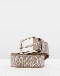 B.Belts - Metallic Snake Leather Belt