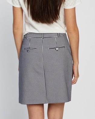 Marcs Go Gingham Mini Skirt - Skirts (NAVY IVORY)