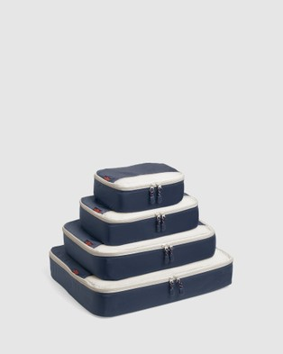 Globite Packing Cubes 4 Piece - Travel and Luggage (Navy)