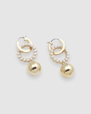Peter Lang Percossi Earrings - Jewellery (Gold )