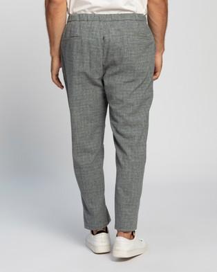 Ben Sherman Light Grey Broken Check Trousers - Pants (Light Grey)