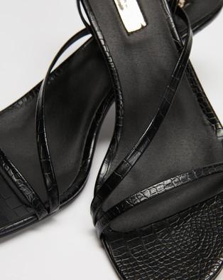 Billini Winx - Mid-low heels (Black Croc)