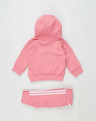 adidas Originals Trefoil Hoodie Set   Babies - Hoodies (Hazy Rose & White)