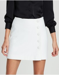 FRIEND of AUDREY - Mabel Wool Buttoned Mini Skirt