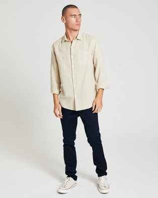Arvust Grover Long Sleeve Shirt - Shirts & Polos (OFF WHIT)