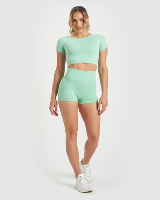 Core Trainer Charlie Crop Top - Crop Tops (Mint)