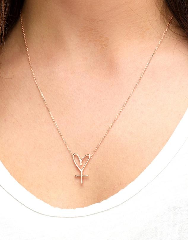 Women Large Sisterhood Symbol Necklace