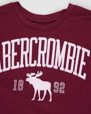 Abercrombie & Fitch Shine Sporty Tee   Teens - T-Shirts & Singlets (Dark Purple)