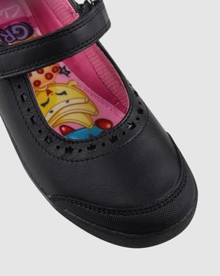 Clarks Betty School Shoes - Flats (Black)