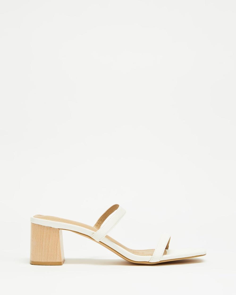 SPURR Ruth Heels Mid-low heels White Smooth Australia