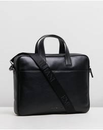 Emporio Armani - Vitello Bottalato Briefcase