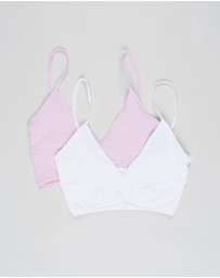 Cotton On Body - Seamfree Rib Ballet Bralette 2-Pack