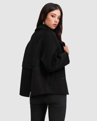 Belle & Bloom I'm Yours Wool Blend Peacoat - Coats & Jackets (Black)