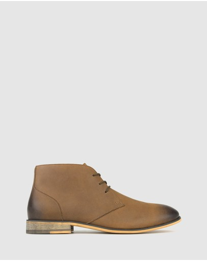 Betts - Dawson Leather Lace Up Ankle Boots
