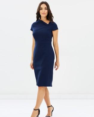 Dorothy Perkins – Keyhole Poly Dress Navy