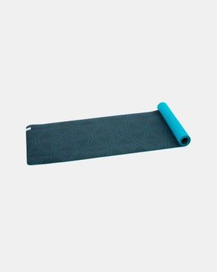 Gaiam Performance Soft Grip XL 5mm Printed Yoga Mat - Yoga Accessories (Deep Teal)