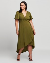 Missguided Curve - Plus Plain Wrap Midi Dress