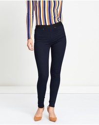 Karen Millen - Satin Denim Leggings