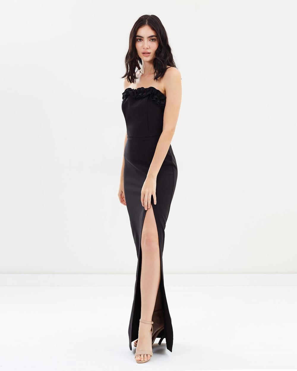 Miss Selfridge Bandeau Prom Dress Dresses Black Bandeau Prom Dress