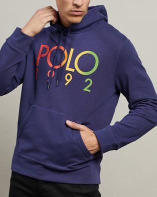 Polo Ralph Lauren ICONIC EXCLUSIVE   Long Sleeve Knit Hoodie - Hoodies (Boathouse Navy)
