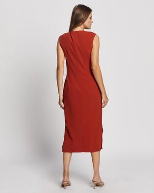 David Lawrence Tie Front Dress - Dresses (Copper)