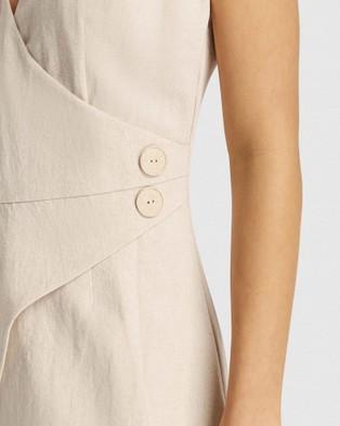 FRIEND of AUDREY Huntington Linen Wrap Dress - Dresses (Natural)