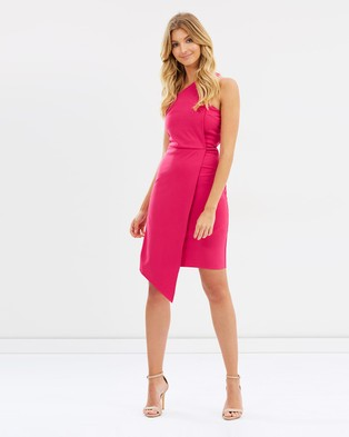 Atmos & Here – Kylie One Shoulder Dress – Bodycon Dresses Hot Pink