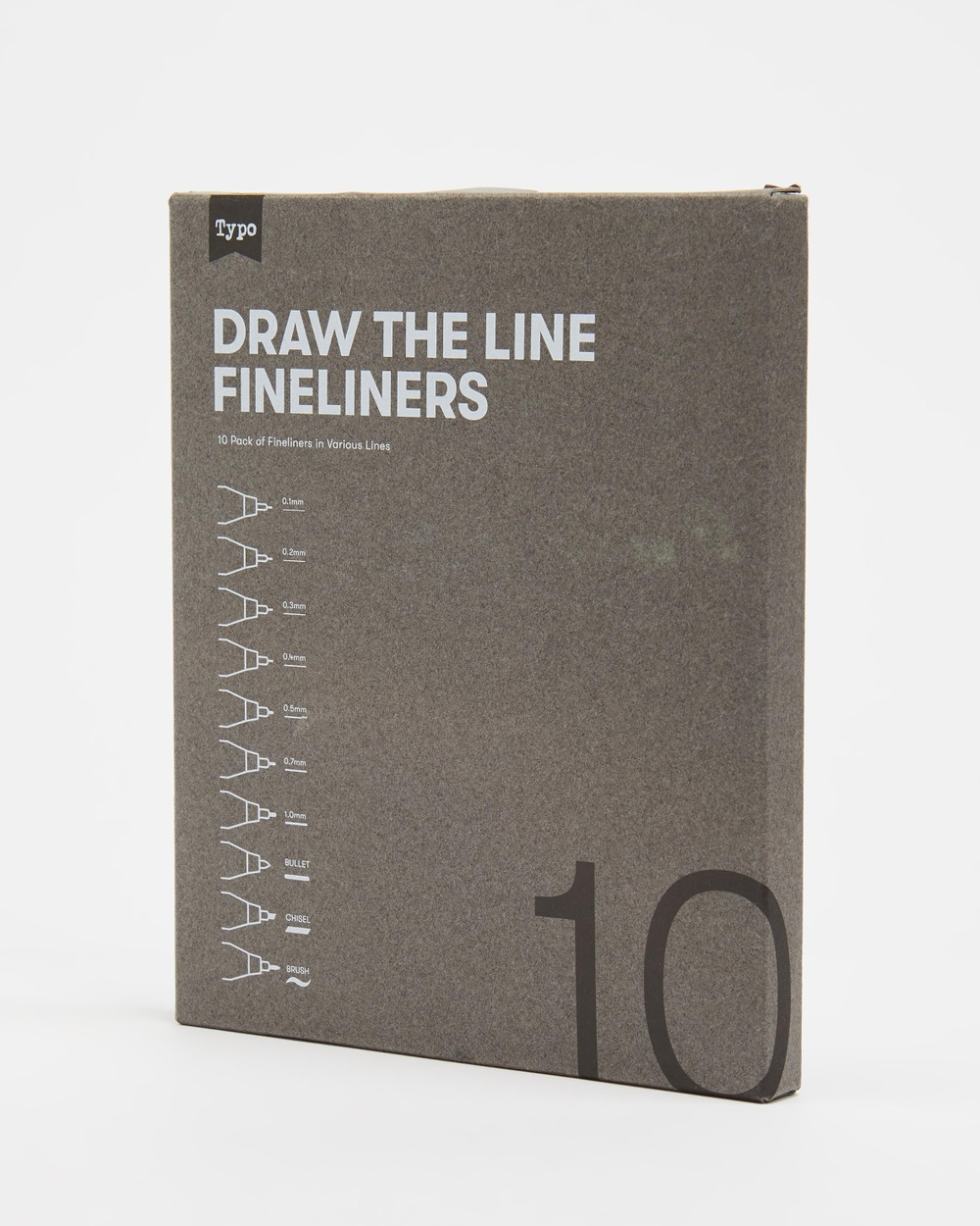 Typo Draw The Line Fineliners 10 Pack All Stationery Multi 10-Pack