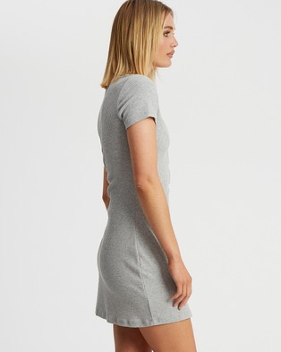 Calli - Norah Mini Dress - Bodycon Dresses (Light Grey) Norah Mini Dress