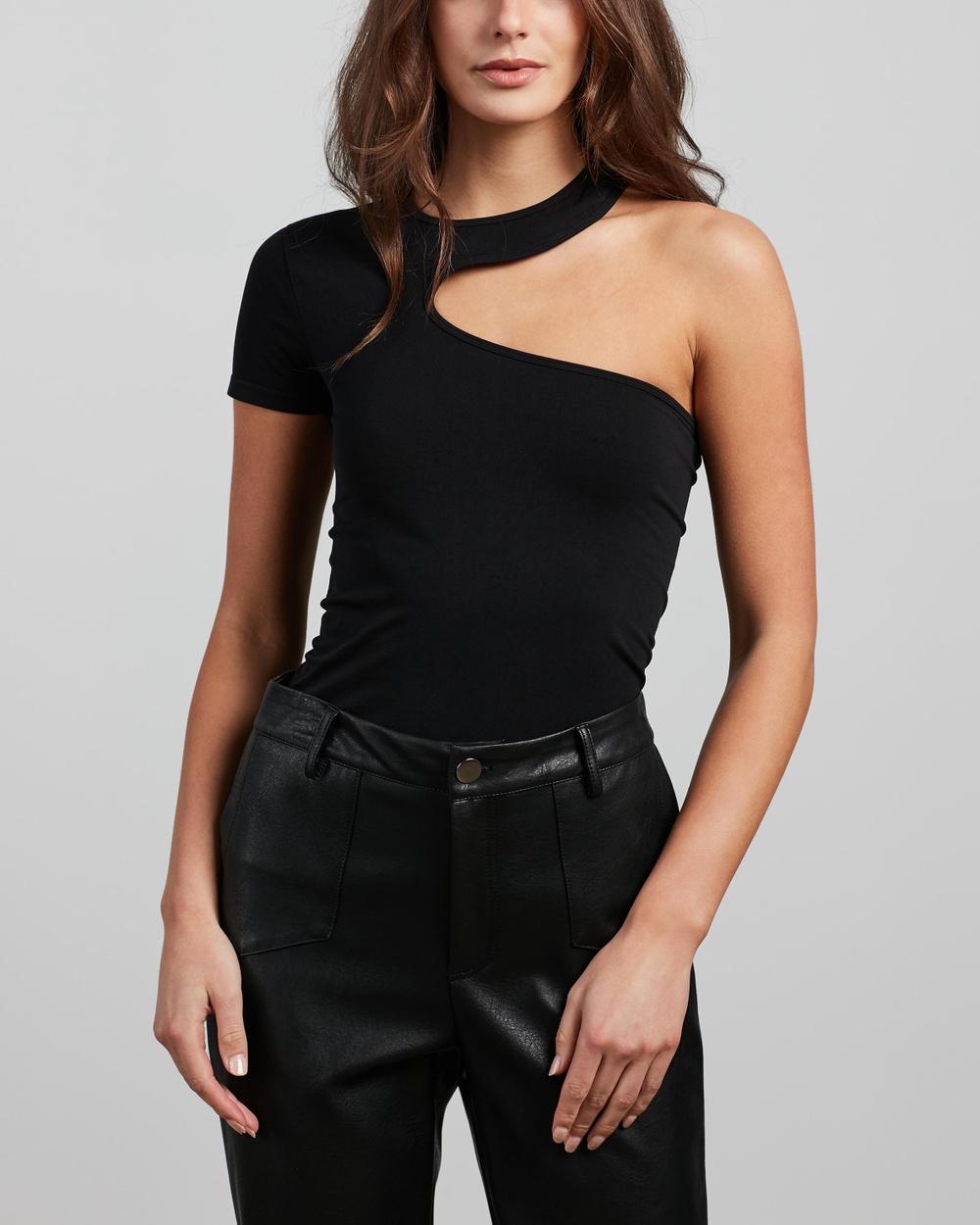 Helmut Lang Cutout Tee T-Shirts & Singlets Black