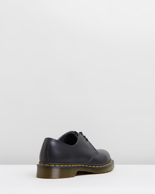 Dr Martens - Unisex Vegan 1461 DMC 3 Eye Shoes Casual (Black Felix Rub Off) 3-Eye