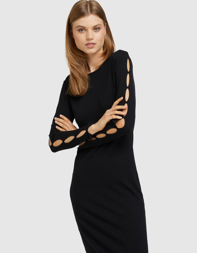 Women Kate Cut Out Knitted Dress