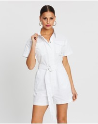 Dazie - West End Girl Short Boilersuit