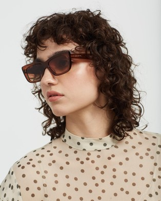 AKILA - Frenzy - Sunglasses (Brown & Silver) Frenzy
