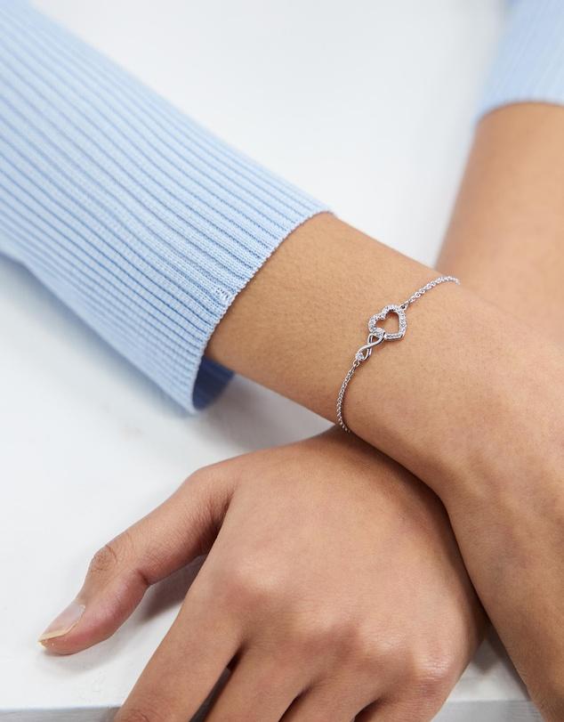 Women Infinity Heart Bracelet